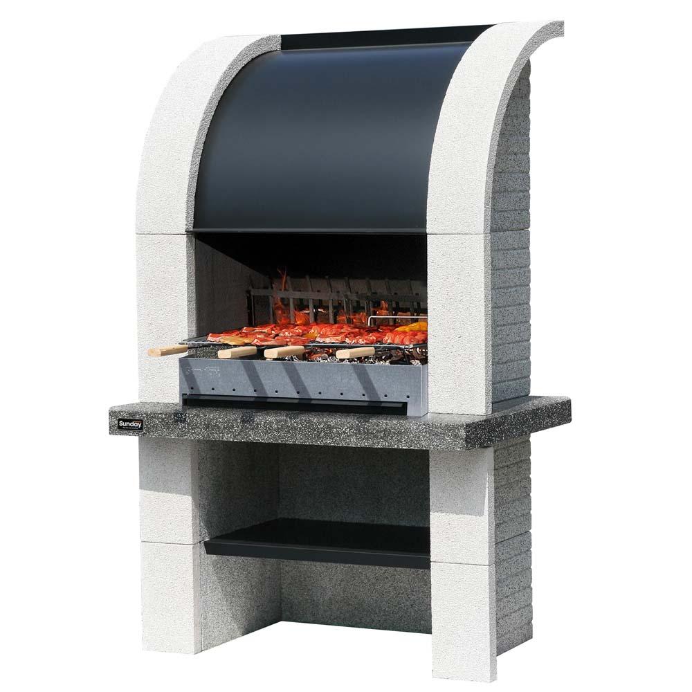 sunday barbecue a legna barbecue e forni. Black Bedroom Furniture Sets. Home Design Ideas