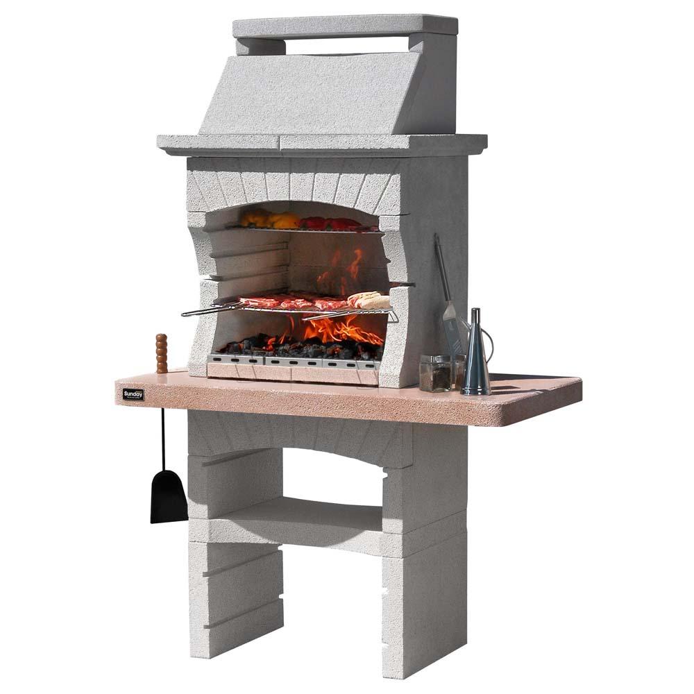 Barbecue in muratura sunday tunisi crystal legna e carbonella for Offerte barbecue in muratura