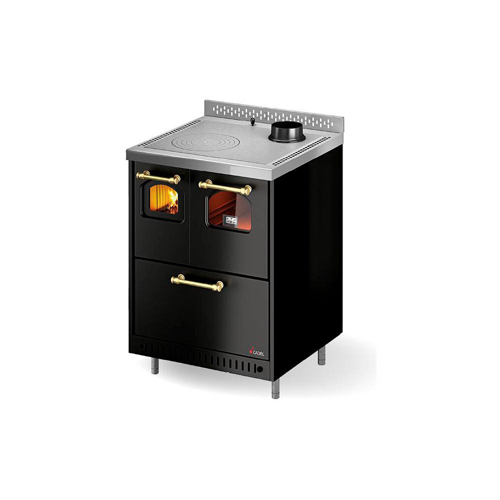 Termocucina a legna rizzoli serie rpv con forno 110 - Scarico fumi cucina ...