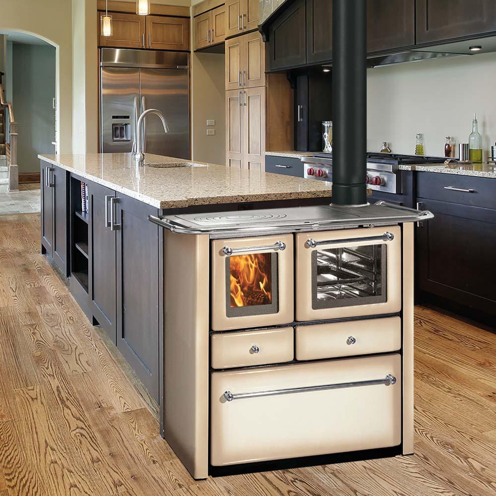 Termocucina a legna rizzoli serie rtv con forno 80 - Cappa per cucina a legna ...