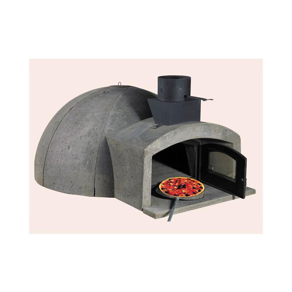 Marsi camin forno a legna in refrattario barbecue e forni for Canna fumaria coibentata bricoman