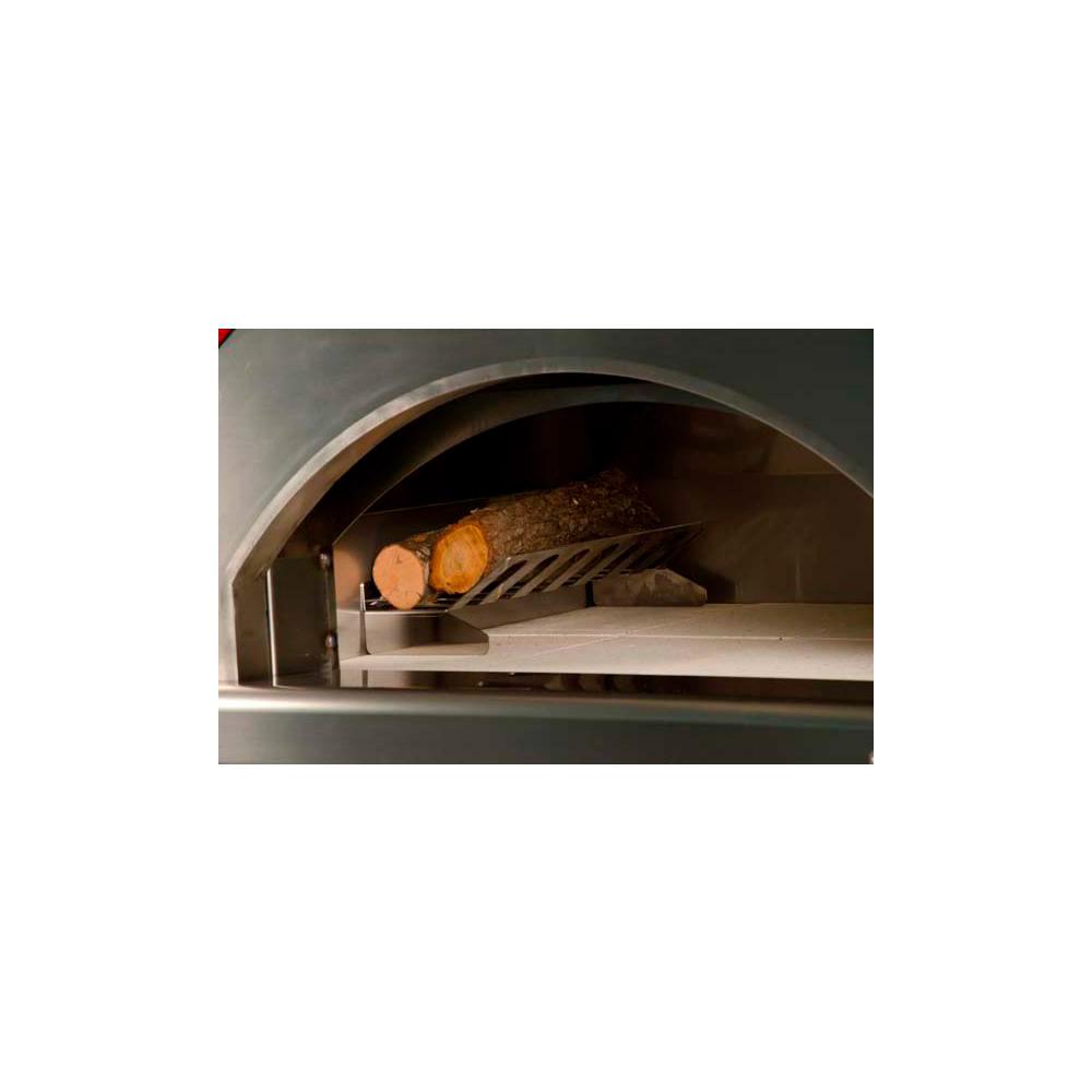 Forno a legna rosso fuoco campagnolo con carrello verniciato - Termostufe a legna con forno ...