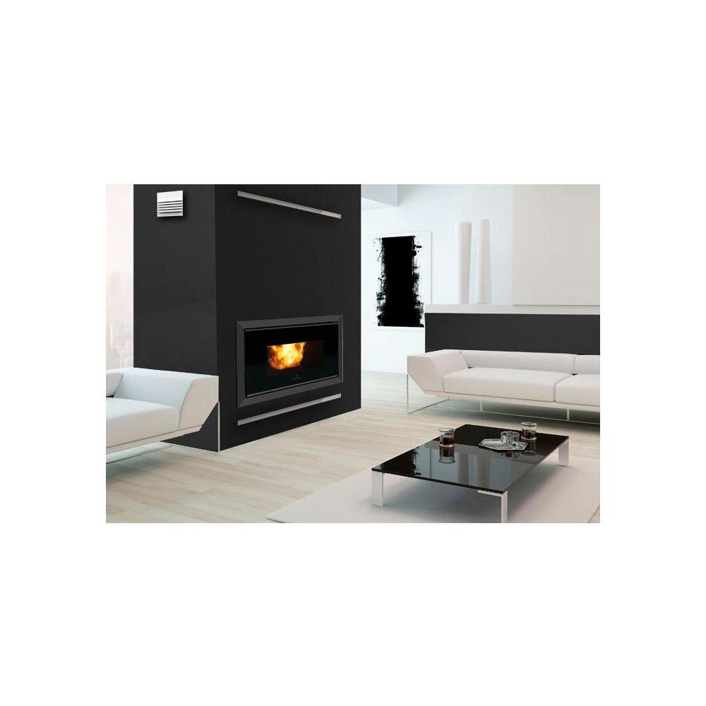 inserti a pellet italiana camini pellquadro kw 10. Black Bedroom Furniture Sets. Home Design Ideas