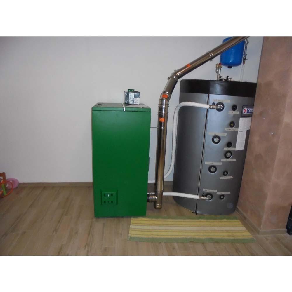 Installazione caldaia a pellet puffer for Caldaia 24 kw quanti mq