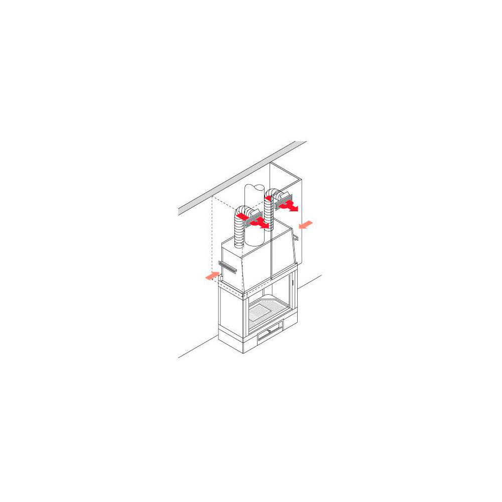 Kit 1 Edilkamin per canalizzare aria calda nel locale caminetto