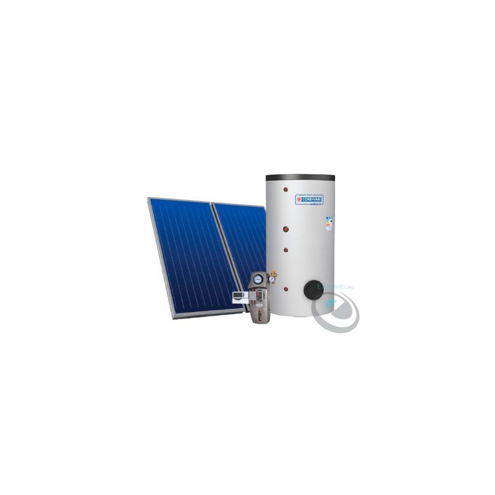Sistema Termico Solare EcoBasic 300lt  per produzione ACS  tetto a falda con 3 collettori solari