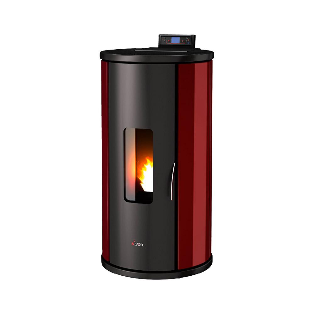 stufa a pellet cadel sfera 3 metallo 9 5 kw. Black Bedroom Furniture Sets. Home Design Ideas