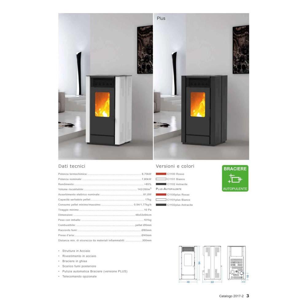 Stufa a Pellet El Fire Ada 8,7 kw