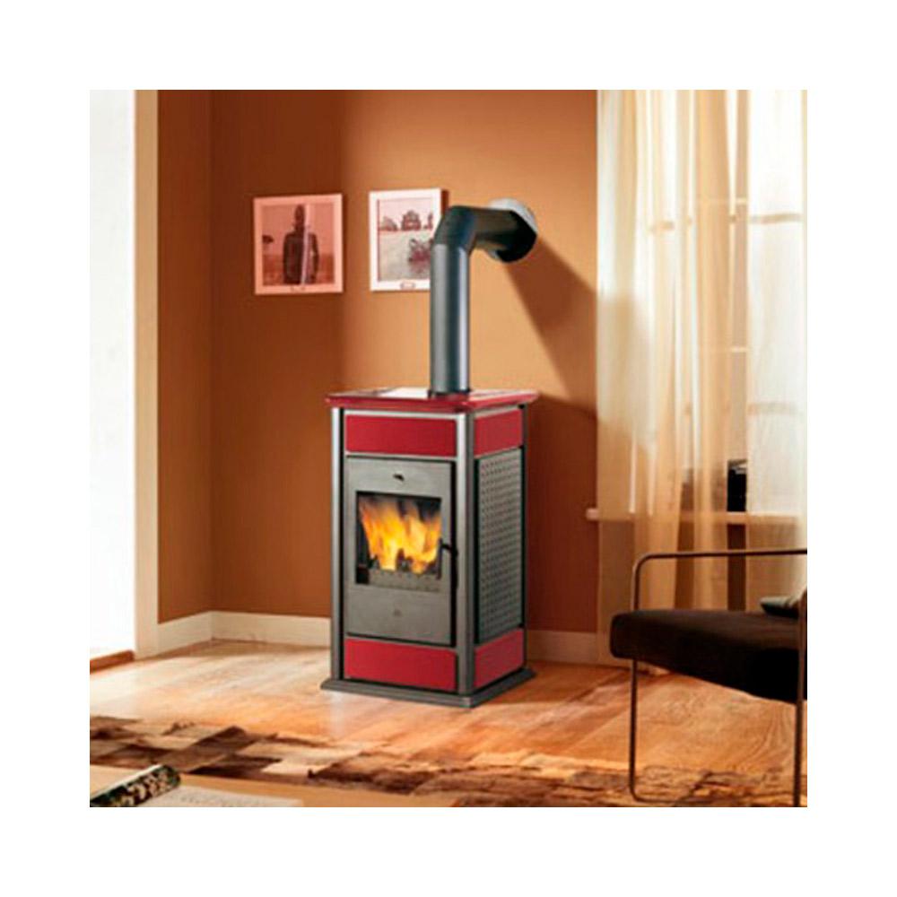 Termostufa a legna edilkamin warm 19 7kw rossa unico pezzo - Edilkamin termostufe a pellet prezzi ...