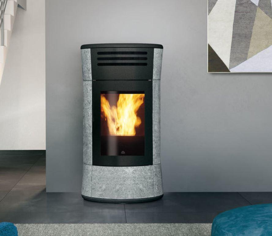 Termostufa a pellet edilkamin cherie up h 15 kw pietra ollare - Edilkamin termostufe a pellet prezzi ...