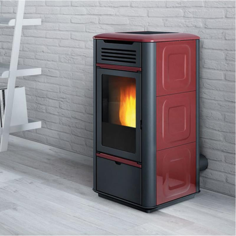 Termostufa a pellet edilkamin mito idro ceramica 16 2 kw pergamena - Edilkamin termostufe a pellet prezzi ...